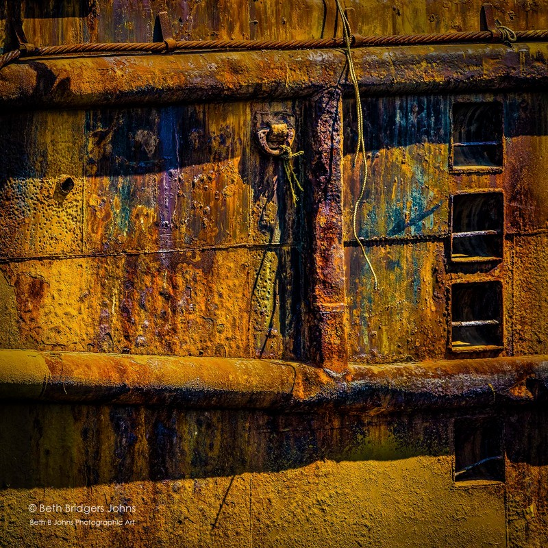 Boat Abstract, Beth B Johns Photographic Art