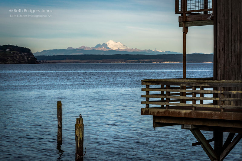 Coupeville, Mount Baker, Kingfisher, Penn Cove, Whidbey Island, Beth B Johns Photographic Art