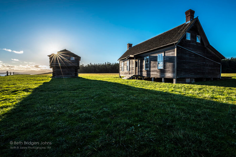 Jacob Ebey House, Ebey's Reserve, Whidbey Island, Beth B Johns Photographic Art