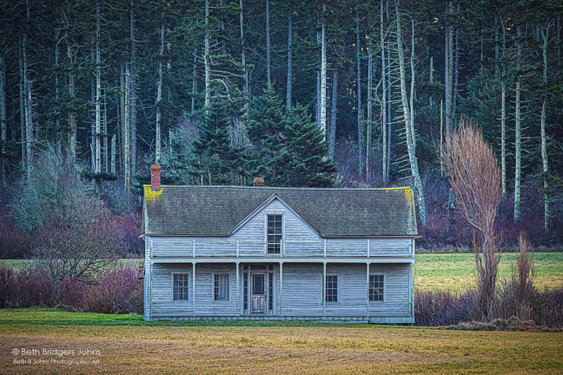 Ferry House, Ebey's Landing, Ebey's Prairie, Beth B Johns Photographic Art