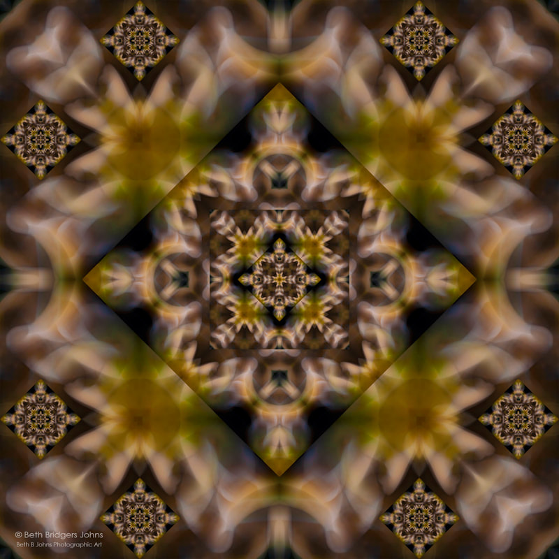 Kaleidoscopic Composite Photograph, Beth B Johns Photographic Art
