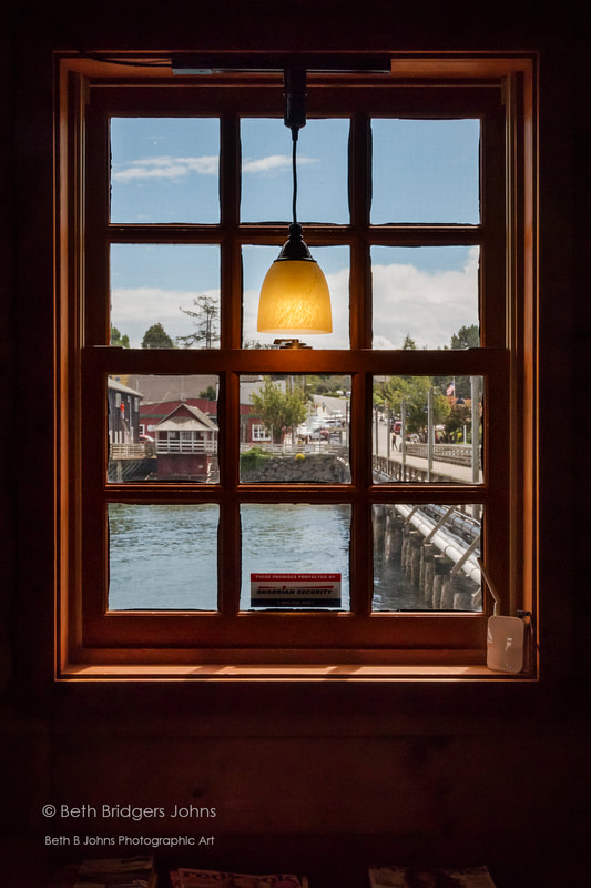 Coupeville through Window, Beth B Johns Photographic Art