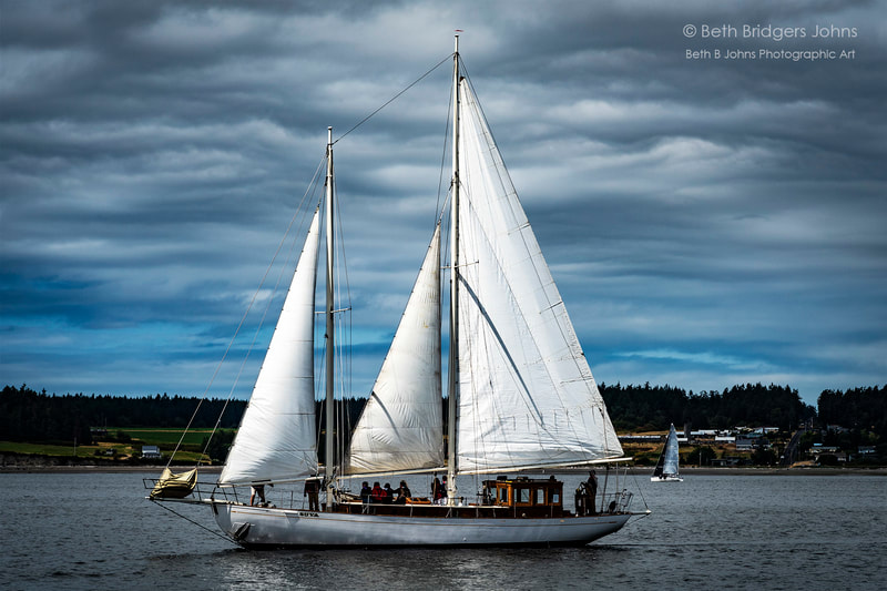 The Schooner SUVA, Race Week, Penn Cove, Whidbey Island, Beth B Johns Photographic Art