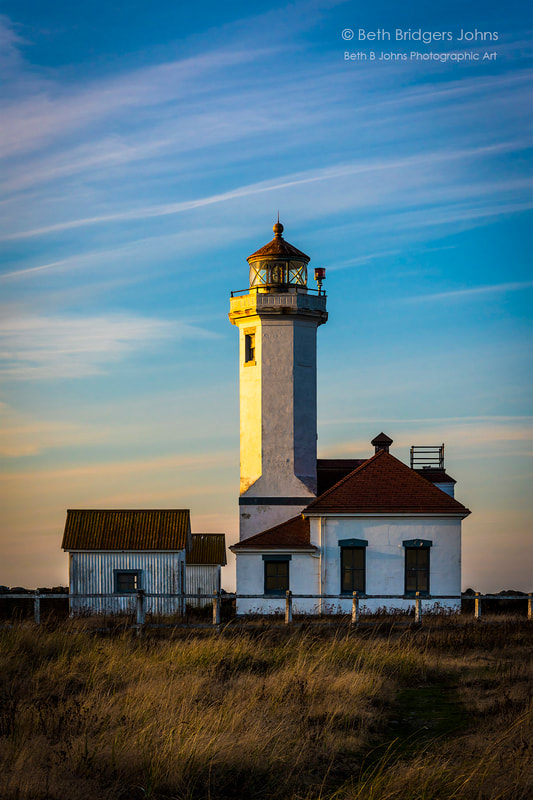 Point Wilson Lighthouse, Fort Worden State Park, Beth B Johns Photographic Art