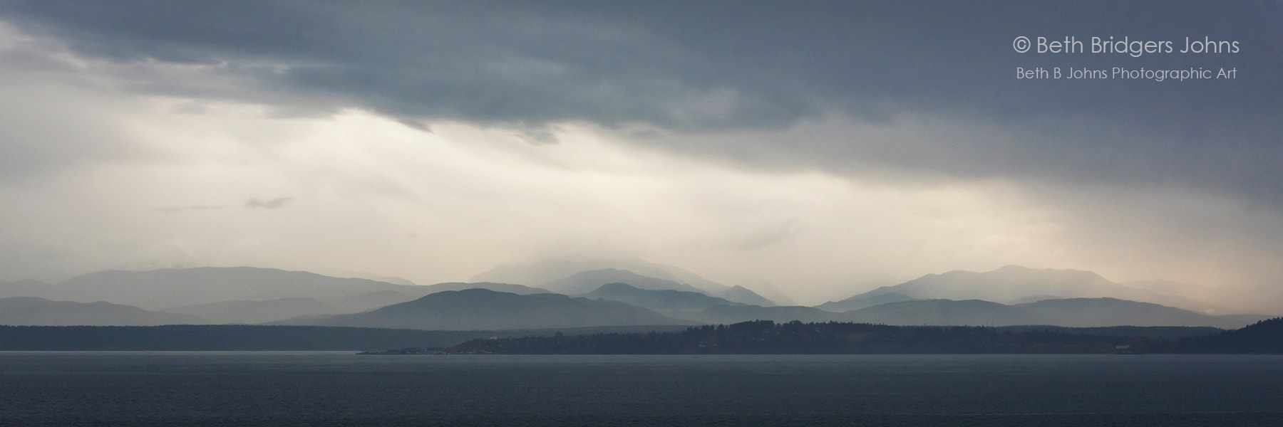The Olympic Mountains from across Admiralty Bay, Beth B Johns Photographic Art