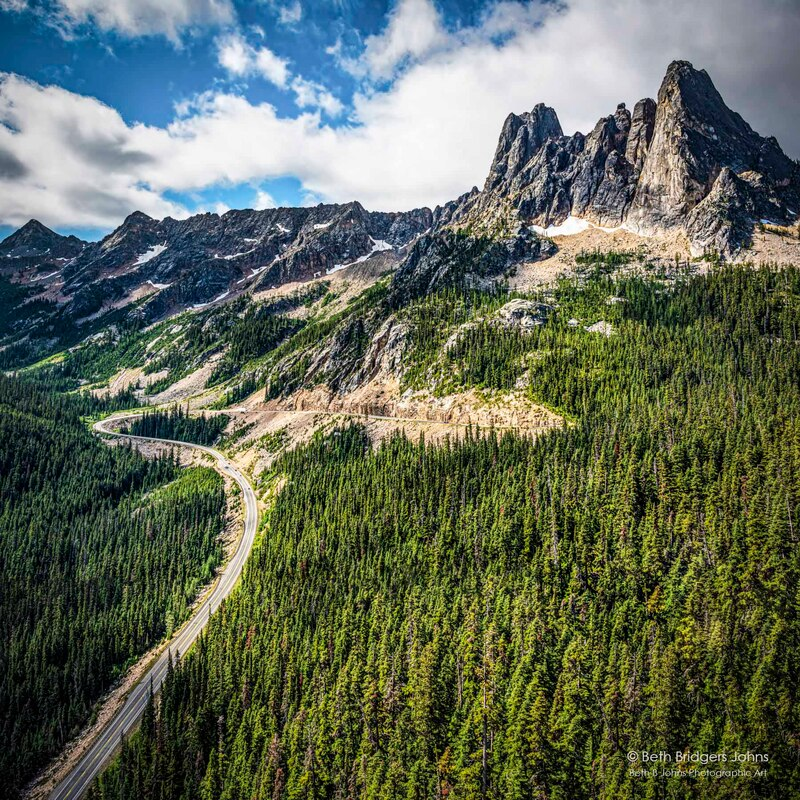Early Winters Spires South at Washington Pass, Northern Cascades, Beth B Johns Photographic Art