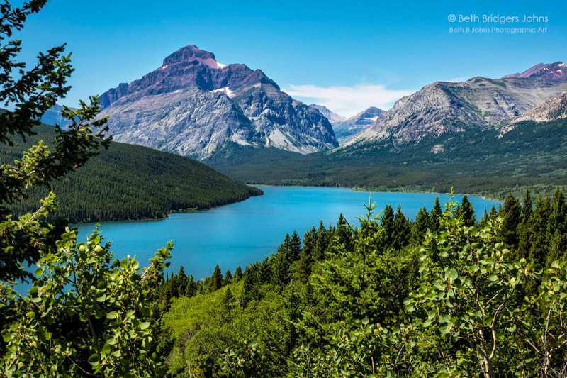 Lower Two Medicine Lake, Rising Wolf Mountain, Glacier National Park, Beth B Johns Photographic Art