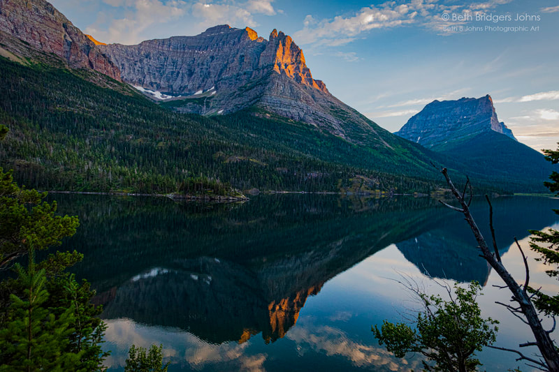 Little Chief Mountain, Citadel Mountain, Saint Mary Lake, Glacier National Park, Beth B Johns Photographic Art