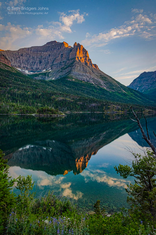 Little Chief Mountain, Saint Mary Lake, Glacier National Park, Beth B Johns Photographic Art