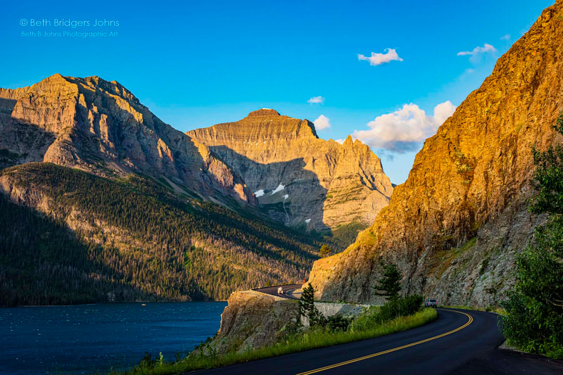 Going to the Sun Road, Glacier National Park, Beth B Johns Photographic Art