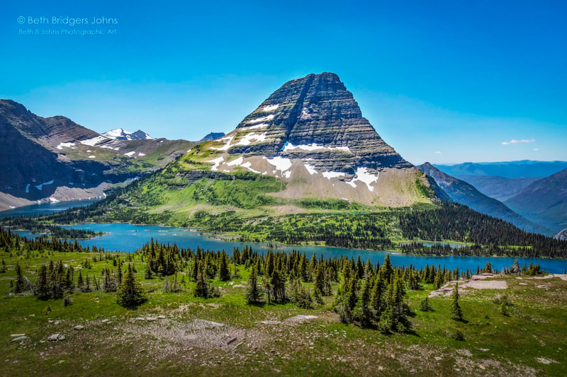 Bearhat Mountain, Glacier National Park, Beth B Johns Photographic Art
